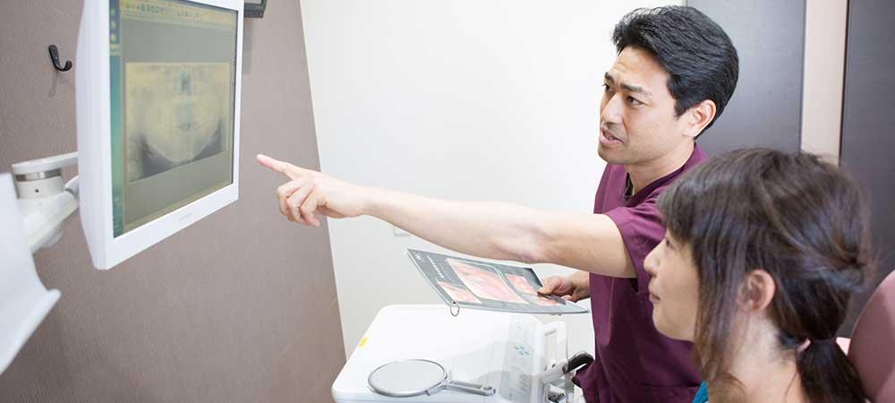歯周病の治療を説明